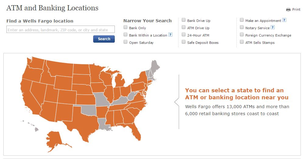 Wells Fargo Locator