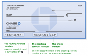 Chase Bank Routing Number Texas