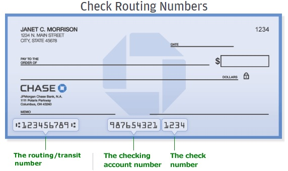 Chase Routing number Southern California