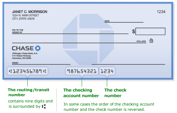 how do i find my chase bank routing number