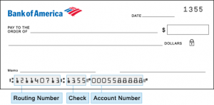 Routing Number For Bank of America