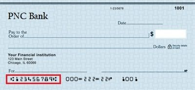 PNC Bank Routing Number NJ