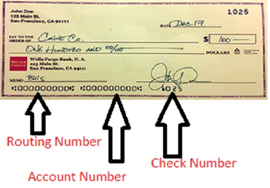 how to find wells fargo routing number on check