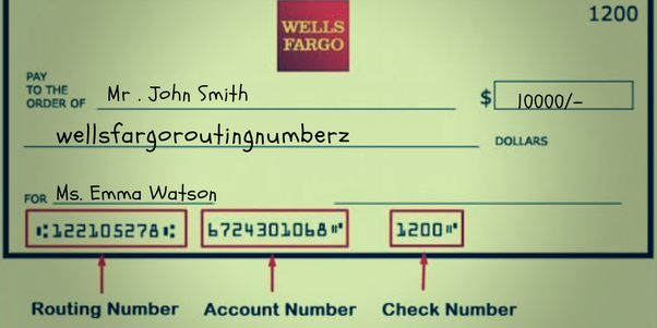 Wells Fargo Texas Routing Number