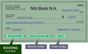 NBT Bank Routing Number TX