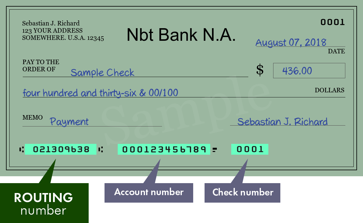how to find the nbt bank routing number | bank routing number