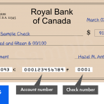 Where To Find The Bank Routing Number Royal Bank of Canada {RBC}