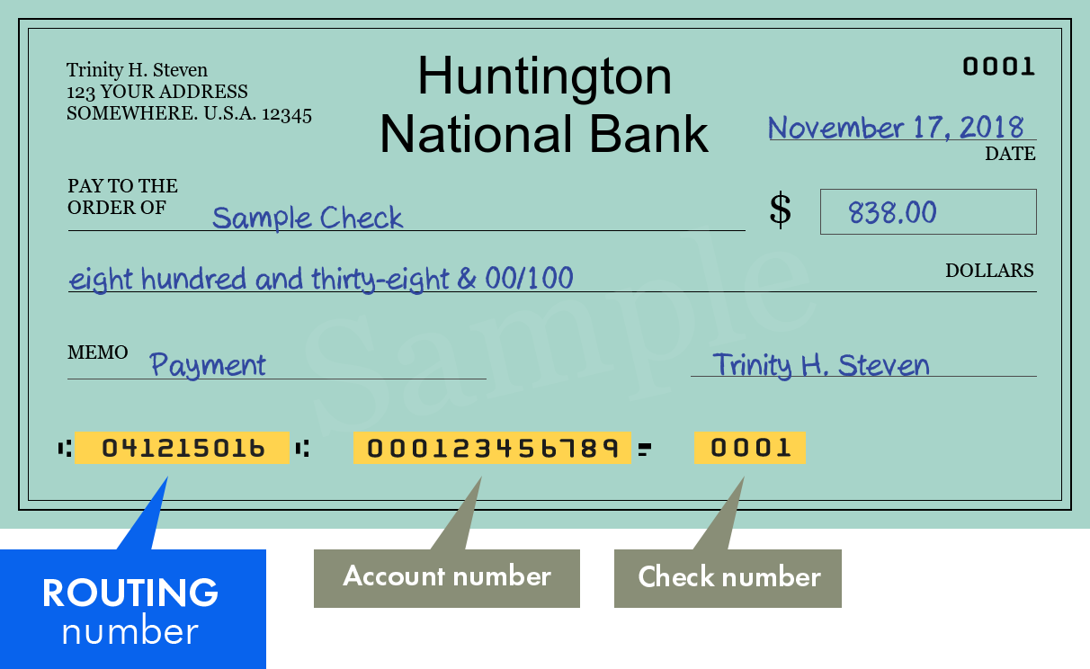 How to Find Your Huntington Routing Number