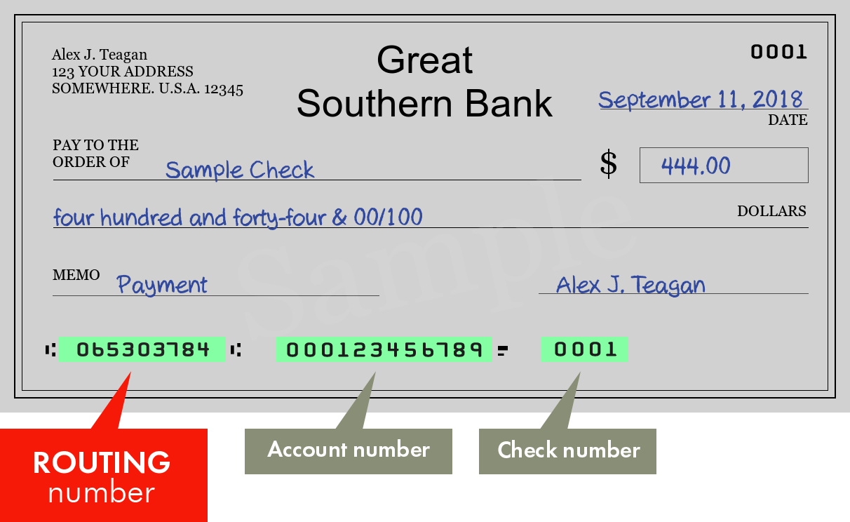 How Do I Find My Routing Number Great Southern Bank?