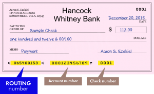 Hancock Bank Routing Number
