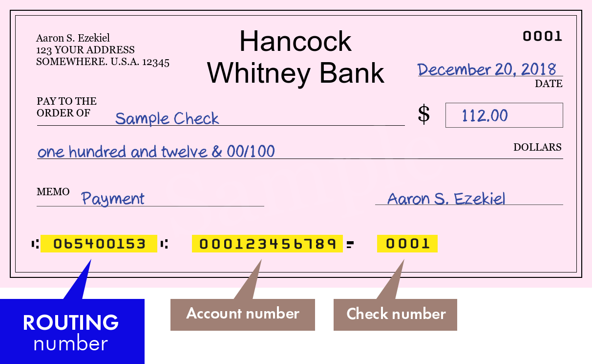 how to find the hancock bank routing number | bank routing number