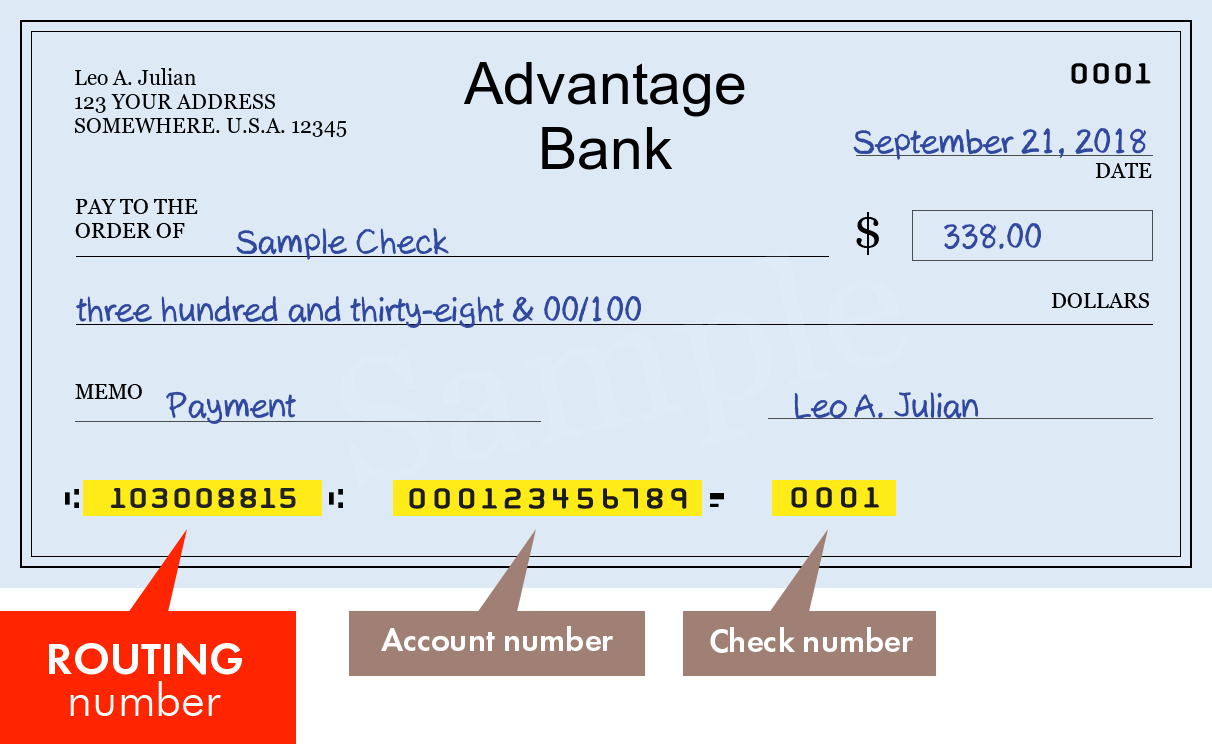 Advantage Bank Routing Number