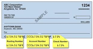 ABA Bank Routing Number