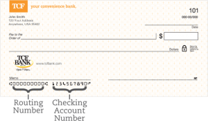 TCF Bank Routing Number